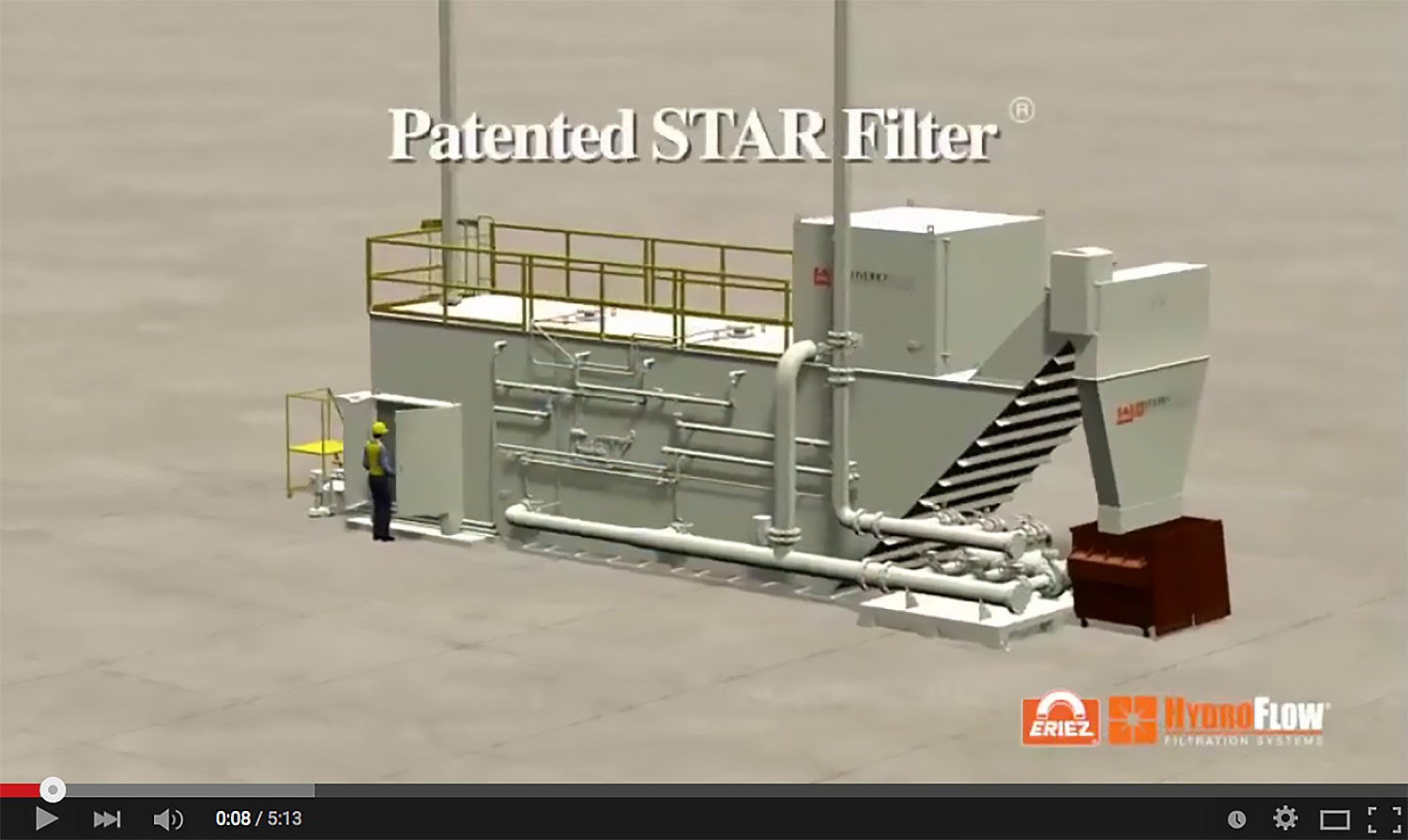 Eriez Animation Video Showcases Hydroflow Star Filter Used